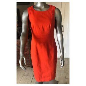 Karen Millen Orange Short Sleeve Shift Size 10
